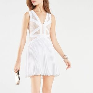 BCBG MaxAzria Kinsey Lace-Blocked Pleated Dress!